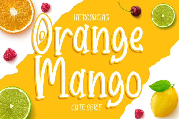 Print on Demand: Orange Mango Display Font By Bangkit Setiadi