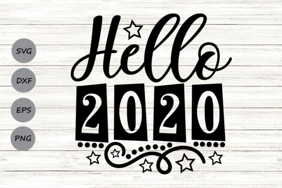 Download Free Hello 2020 Graphic By Cosmosfineart Creative Fabrica for Cricut Explore, Silhouette and other cutting machines.