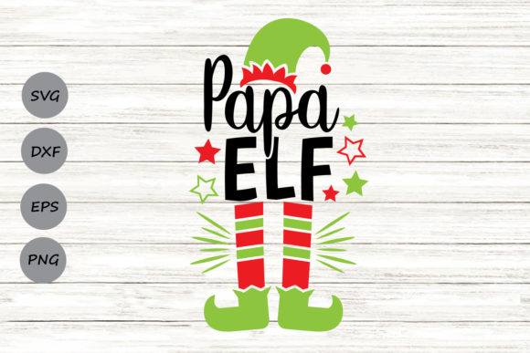 Download Free Papa Elf Graphic By Cosmosfineart Creative Fabrica for Cricut Explore, Silhouette and other cutting machines.
