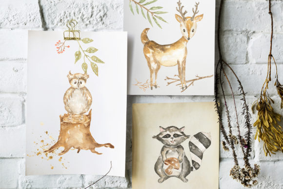 Watercolor Forest Story Graphic Illustrations By Maya Navits - Image 7