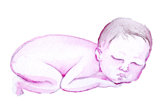Download Free Newborn Baby In Watercolor Style Svg Cut File By Creative for Cricut Explore, Silhouette and other cutting machines.