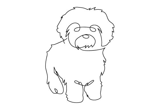 Download Free Cavoodle In Line Art Style Svg Cut File By Creative Fabrica for Cricut Explore, Silhouette and other cutting machines.