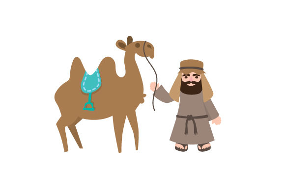 Abraham with Camel Religious Craft Cut File By Creative Fabrica Crafts