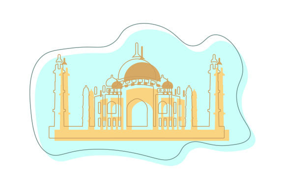 Taj Mahal Abstract Print Art Style Travel Craft Cut File By Creative Fabrica Crafts