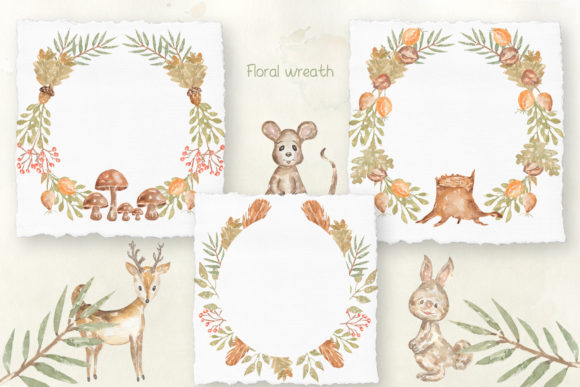 Watercolor Forest Story Graphic Illustrations By Maya Navits - Image 5