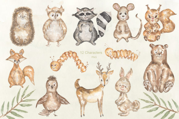 Watercolor Forest Story Graphic Illustrations By Maya Navits - Image 2
