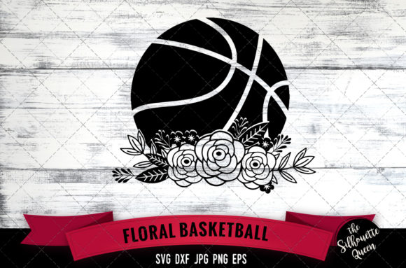 Download Free Floral Basketball Graphic By Thesilhouettequeenshop Creative for Cricut Explore, Silhouette and other cutting machines.