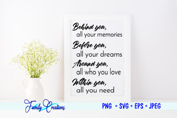 Download Free Behind You Saying Graphic By Family Creations Creative Fabrica for Cricut Explore, Silhouette and other cutting machines.