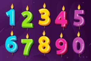Download Free Birthday Anniversary Numbers Candle Graphic By Freshcare for Cricut Explore, Silhouette and other cutting machines.