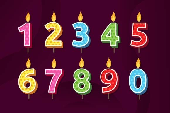 Download Free Birthday Anniversary Number Candles Graphic By Freshcare for Cricut Explore, Silhouette and other cutting machines.
