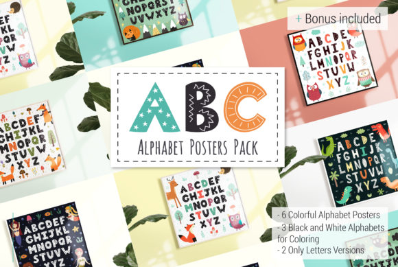 ABC: Alphabet Posters Pack Grafik Illustrationen von jsabirova