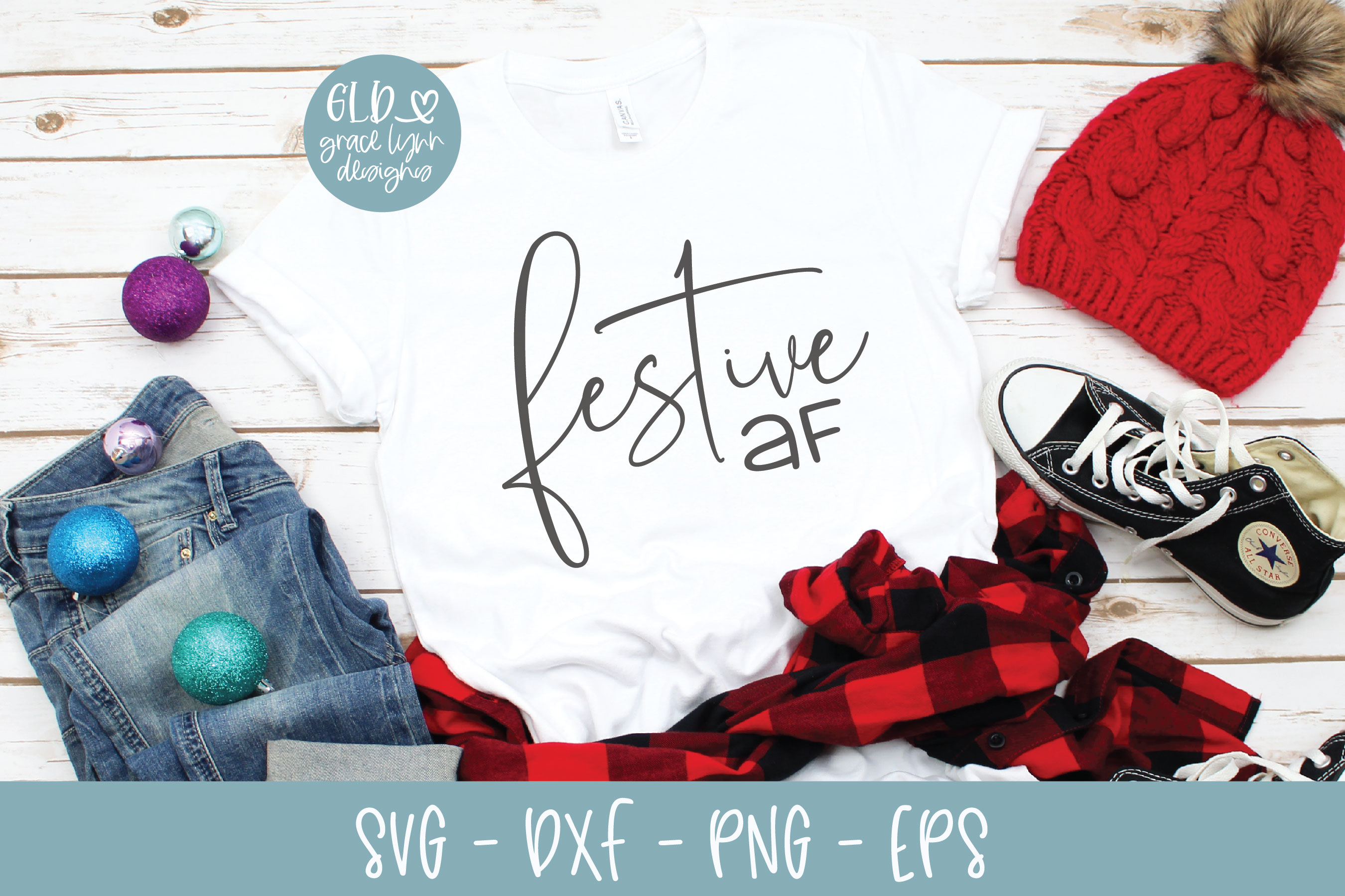 Download Free Festive Af Graphic By Gracelynndesigns Creative Fabrica for Cricut Explore, Silhouette and other cutting machines.
