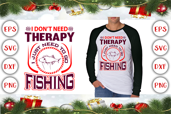 Fishing T-shirt Design Graphic Print Templates By Graphics Cafe - Image 1
