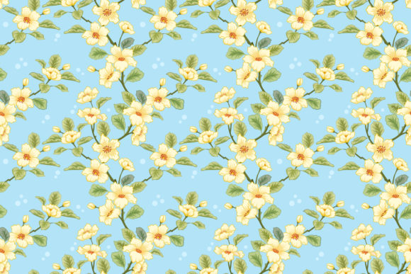 yellow flowers on blue background graphic by ranger262 creative fabrica yellow flowers on blue background