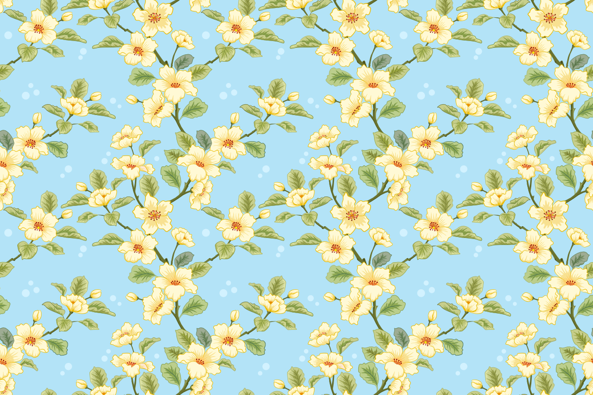 Download Free Yellow Flowers On Blue Background Graphic By Ranger262 for Cricut Explore, Silhouette and other cutting machines.