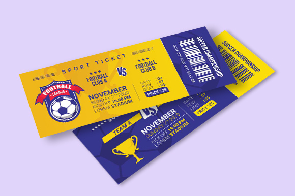 Download Free Sport Ticket Template Vol 2 Graphic By Freshcare Creative Fabrica for Cricut Explore, Silhouette and other cutting machines.