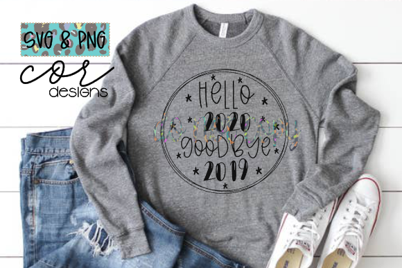 Print on Demand: Hello 2020 Goodbye 2019 Graphic Crafts By designscor