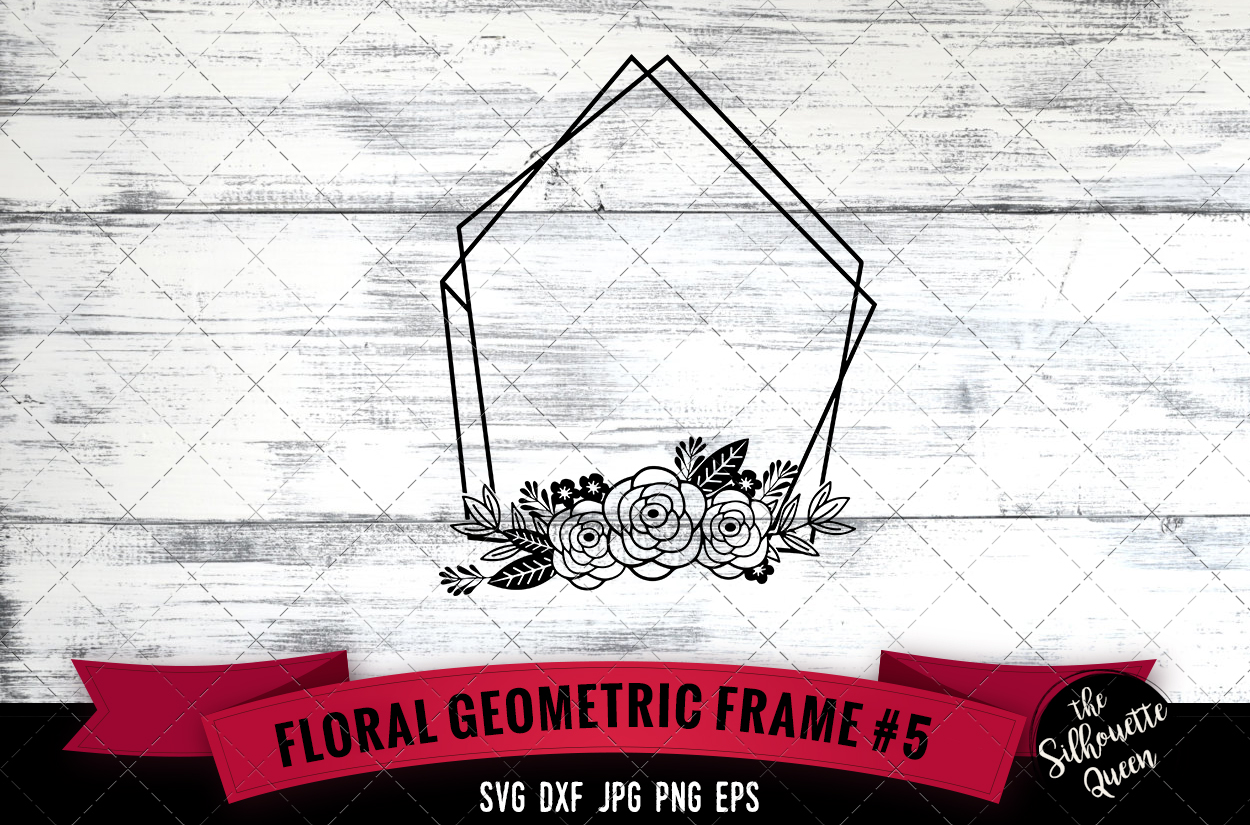 Download Free Floral Geometric Frame 5 Graphic By Thesilhouettequeenshop for Cricut Explore, Silhouette and other cutting machines.