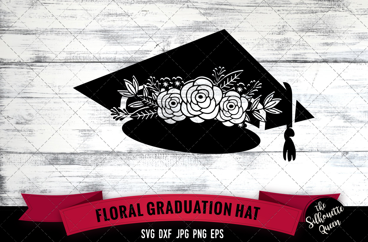 Floral Graduation Hat Svg Cut File Graphic By
