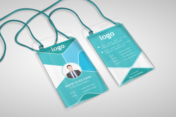 Download Free Office Id Card Template Graphic By Ju Design Creative Fabrica SVG Cut Files