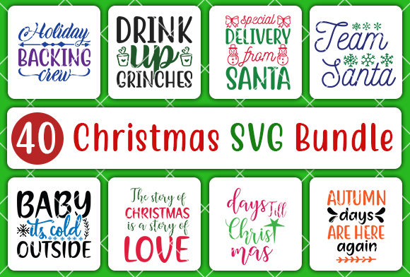 Print on Demand: Christmas Bundle Graphic Crafts By CreativeArt - Image 4