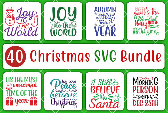 Print on Demand: Christmas SVG Bundle Gráfico Crafts Por CreativeArt