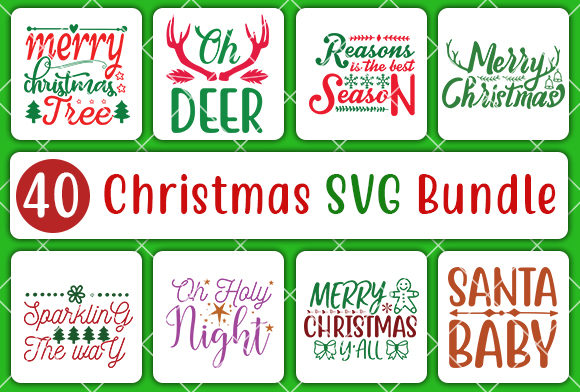 Print on Demand: Christmas Bundle Graphic Crafts By CreativeArt - Image 2