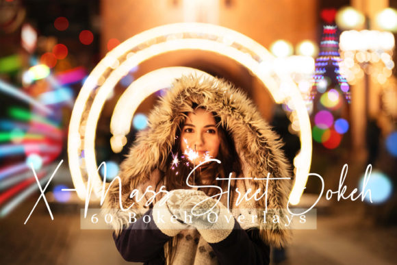 Print on Demand: 60 X-Mass Street Bokeh Lights Effect Graphic Backgrounds By 3Motional