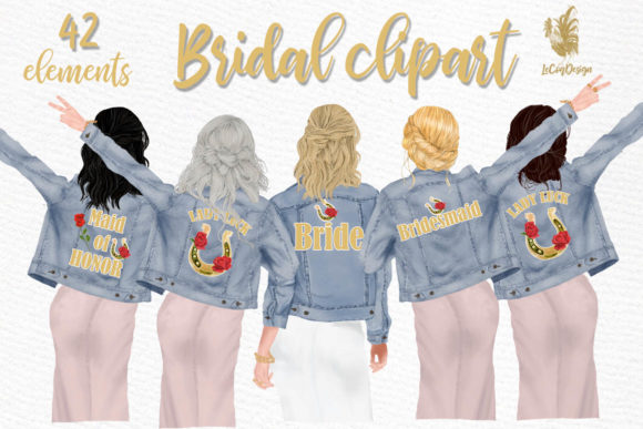 Wedding Clipart Grafik Illustrationen von LeCoqDesign