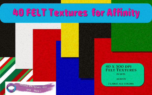 Print on Demand: Felt Textures  for Affinity Programs Graphic Layer Styles By Angela H. Evans