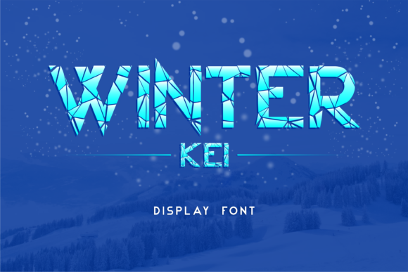 Print on Demand: Winter Kei Display Font By arukidz.fl