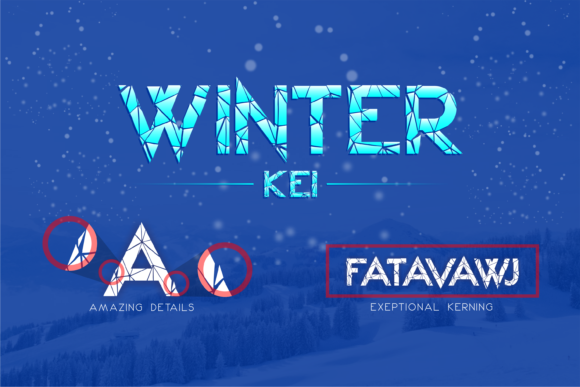 Print on Demand: Winter Kei Display Font By arukidz.fl - Image 4