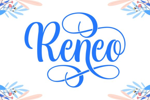 Print on Demand: Reneo Script & Handwritten Font By Keithzo (7NTypes) - Image 1
