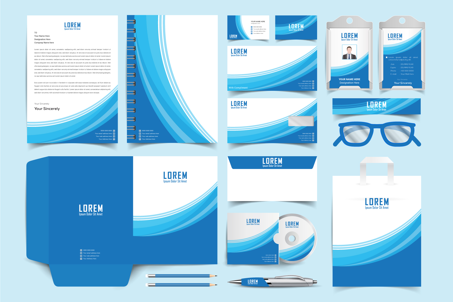 Download Free Stationary Branding Graphic By Ju Design Creative Fabrica SVG Cut Files