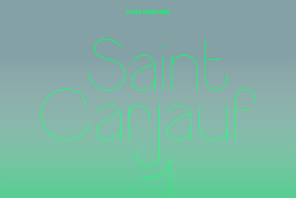 Print on Demand: Saint Carjauf Sans Serif Font By fauxperfume