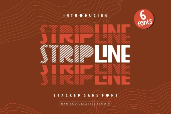 Print on Demand: Strip Line Sans Serif Font By HansCo - Image 1