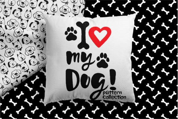 Love My Dog Collection Graphic Patterns By MarynArts - Image 1