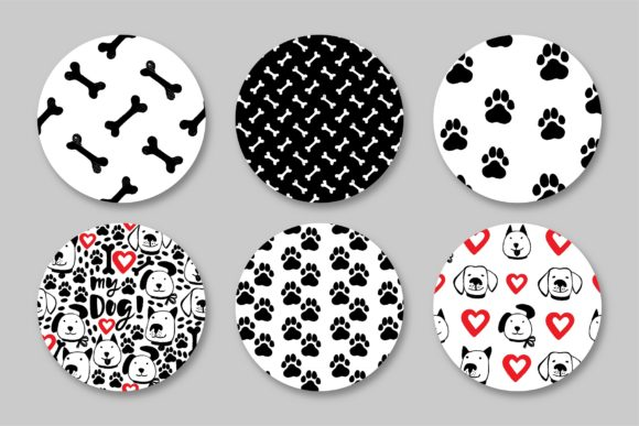 Love My Dog Collection Graphic Patterns By MarynArts - Image 5