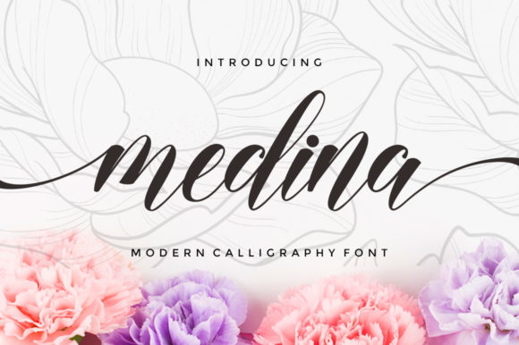 Print on Demand: Medina Script & Handwritten Font By Selotypestudio