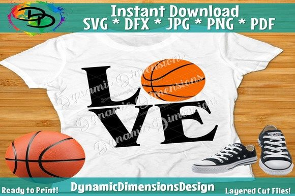 Download Free Love Basketball Graphic By Dynamicdimensions Creative Fabrica for Cricut Explore, Silhouette and other cutting machines.