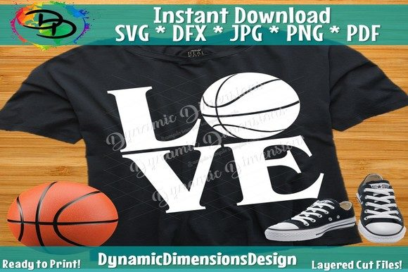 Print on Demand: Love Basketball Graphic Crafts By dynamicdimensions - Image 2