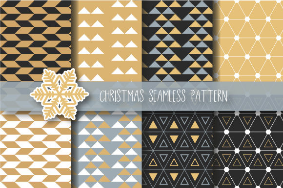 Print on Demand: Christmas Abstract Seamless Pattern Graphic Patterns By jannta