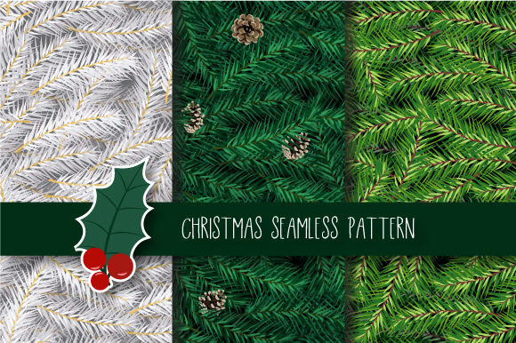 Print on Demand: Christmas Seamless Pattern Graphic Patterns By JANNTA