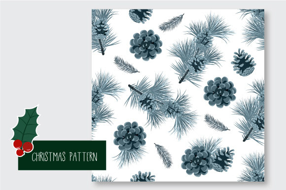 Print on Demand: Christmas Seamless Pattern Graphic Patterns By jannta - Image 3