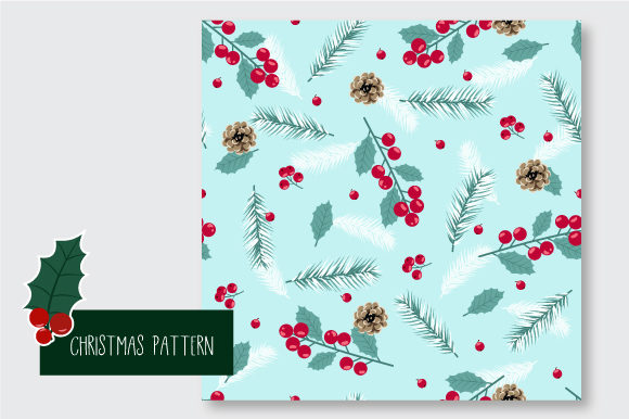 Print on Demand: Christmas Seamless Pattern Graphic Patterns By jannta - Image 5