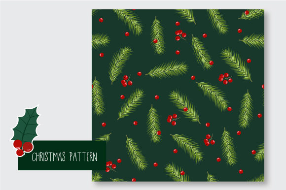 Print on Demand: Christmas Seamless Pattern Graphic Patterns By jannta - Image 7