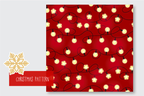 Print on Demand: Christmas Seamless Pattern Garland Graphic Patterns By jann - Image 3
