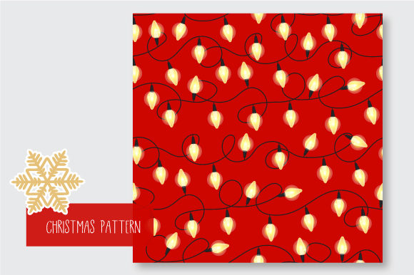 Print on Demand: Christmas Seamless Pattern Garland Graphic Patterns By jannta - Image 5