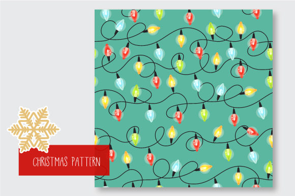 Print on Demand: Christmas Seamless Pattern Garland Graphic Patterns By jann - Image 7