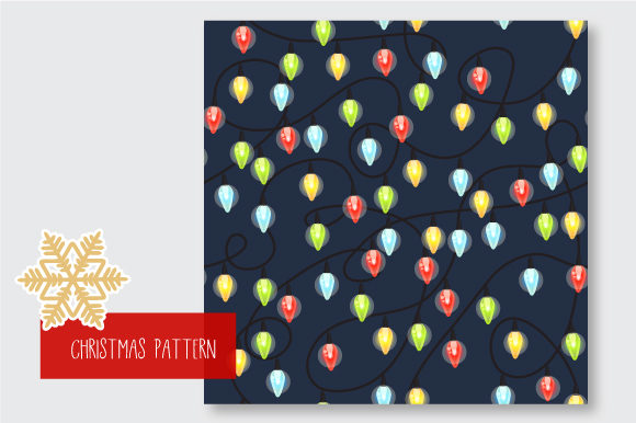 Print on Demand: Christmas Seamless Pattern Garland Graphic Patterns By jann - Image 9